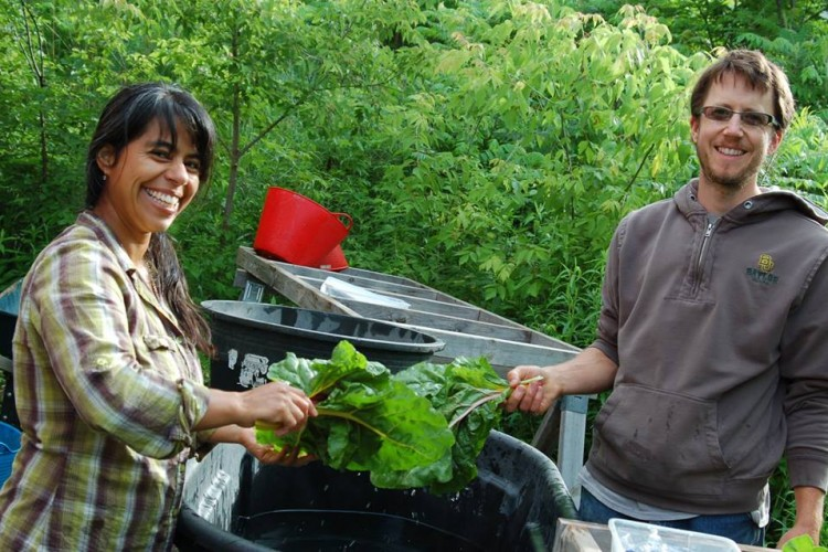 photo of Adam Ellefson and Lupita Marchan of Living Land Farm