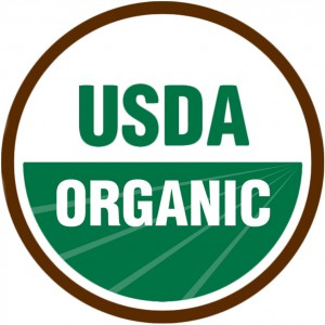 photo of a USDA organic label