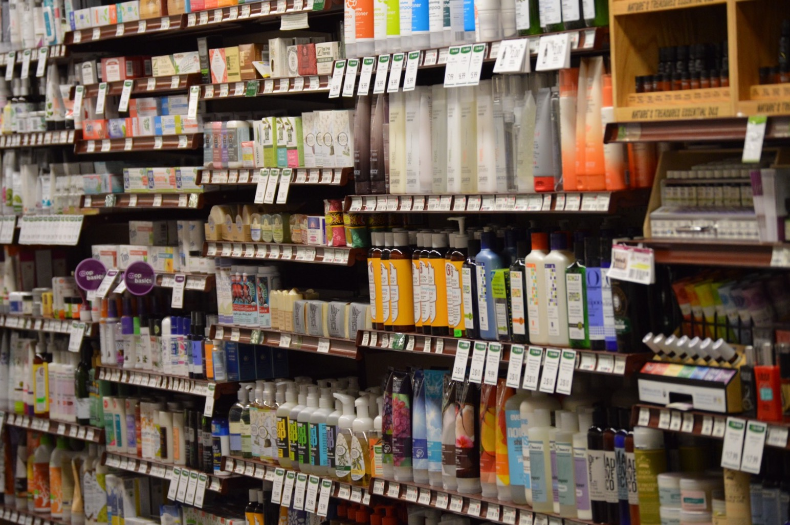 a photo of health and wellness supplies at the St. Peter Food Co-op