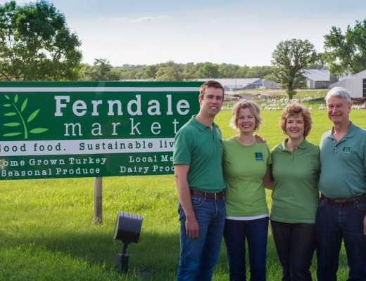 a photo of the Peterson family of Ferndale Market