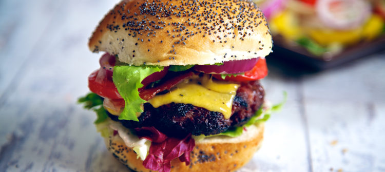 a photo of a grilled burger for Father's Day