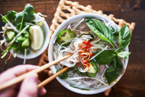 a photo of Vietnamese Pho soup