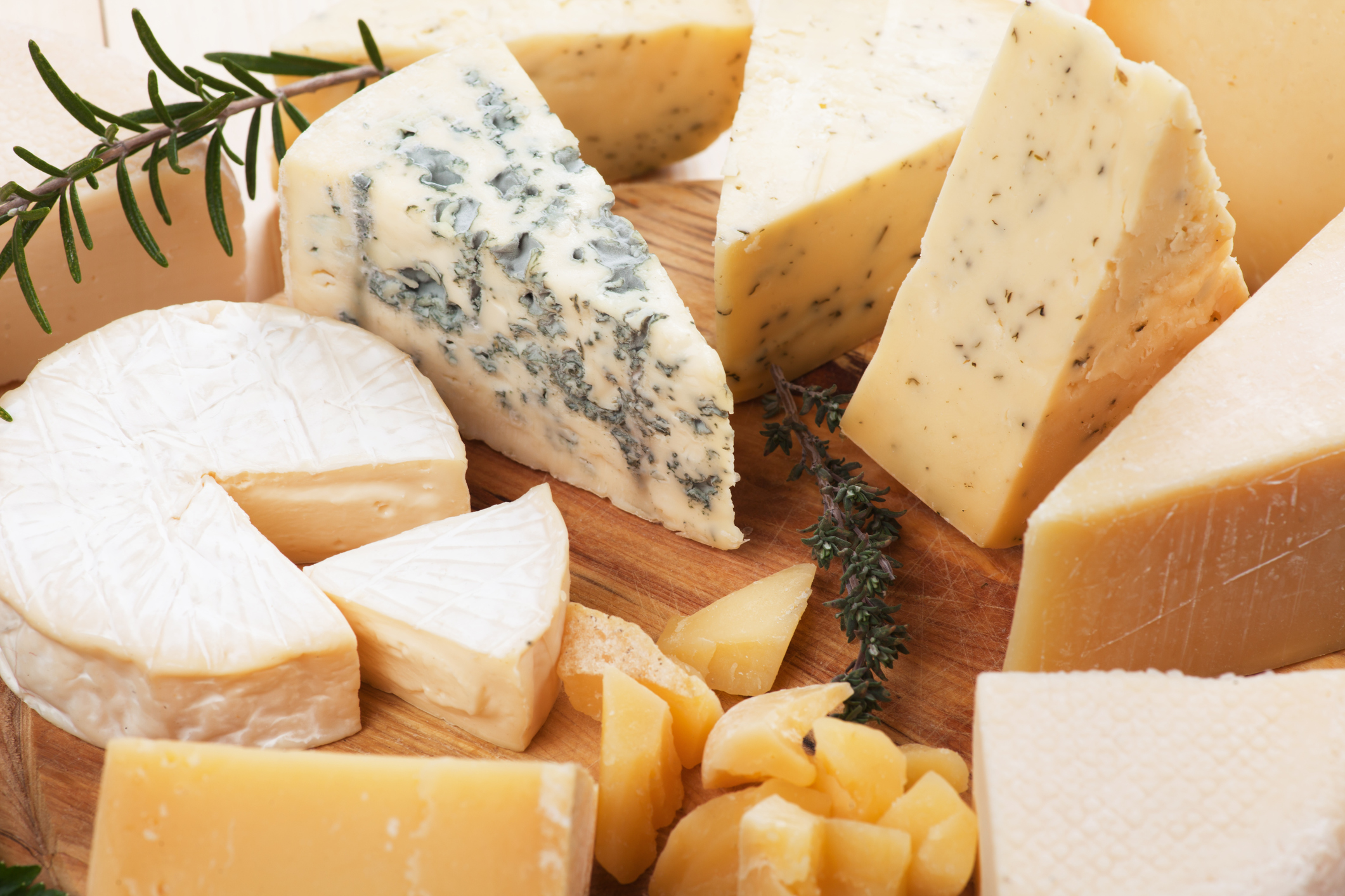 a photo of different types of cheese