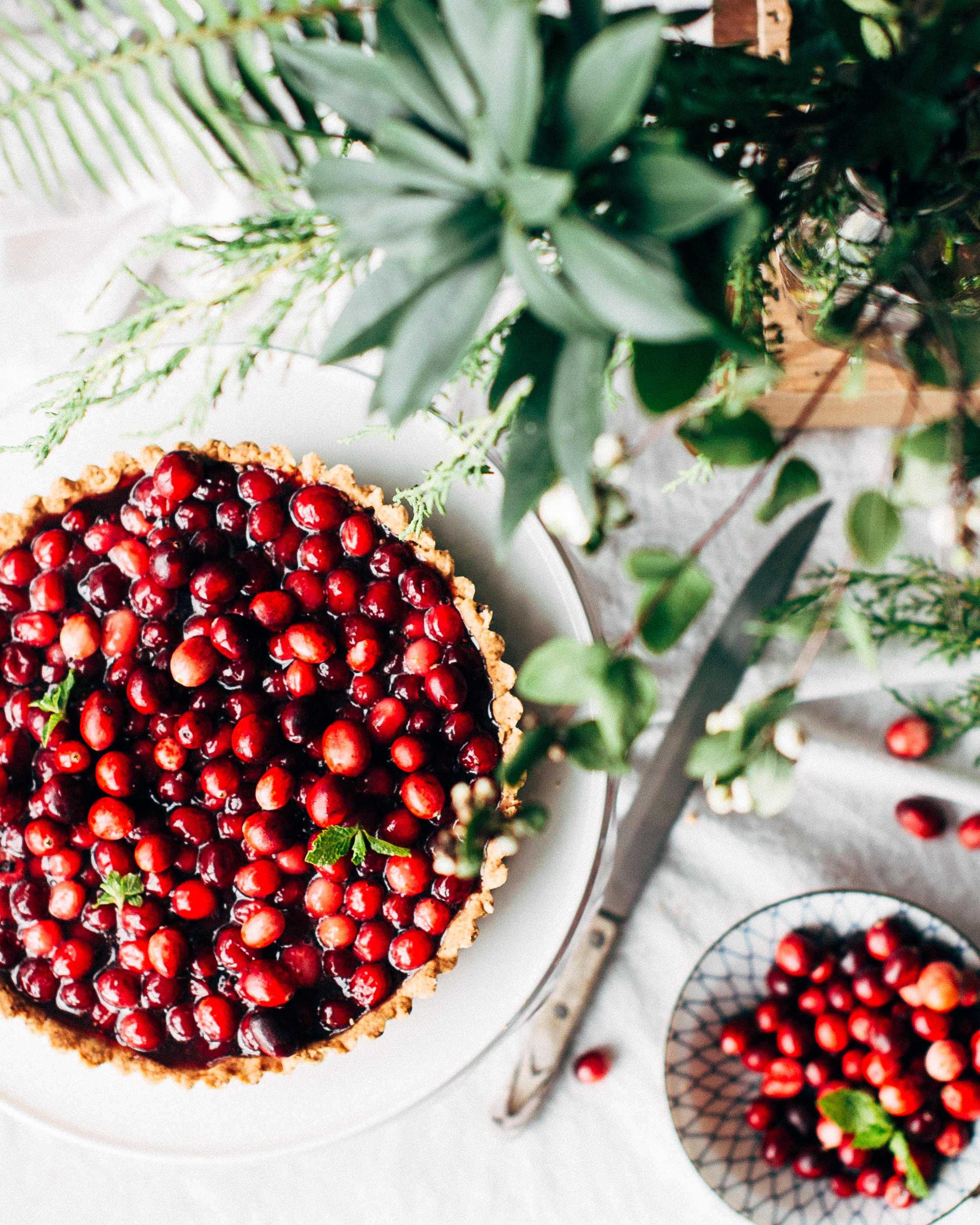 a photo of cranberry pie