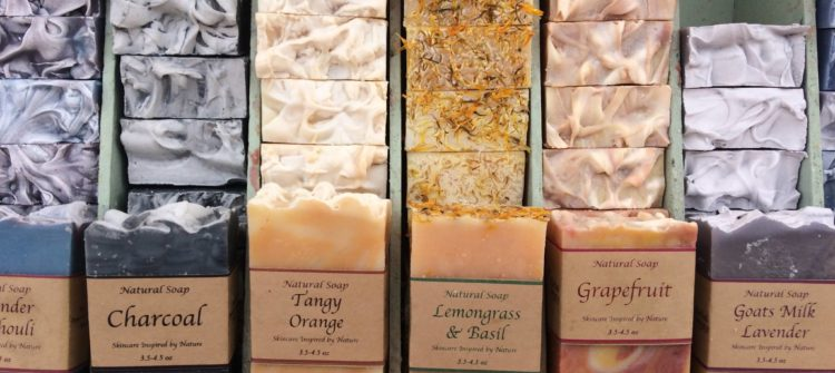 a photo of soaps from herbal beauty