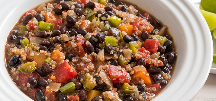 a photo of crockpot black bean chili