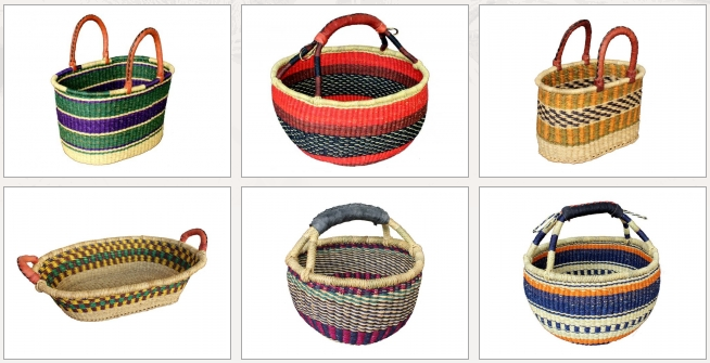 a photo of African Market Baskets