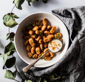 a photo of a bowl of gnocchi