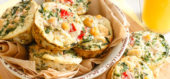 a photo of Kale and Chickpea Mini Frittatas