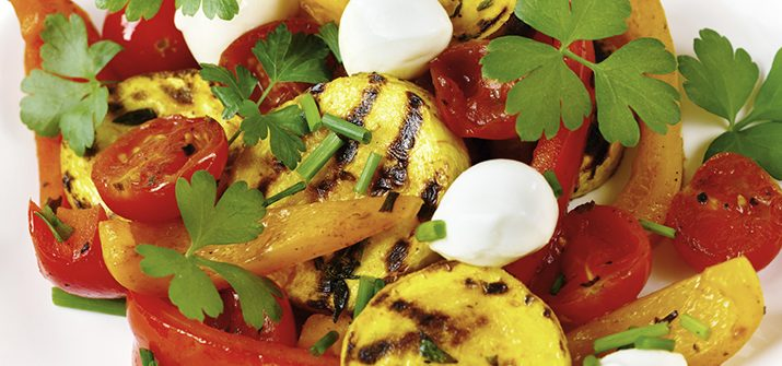 a photo of Grilled Summer Vegetables with Fresh Mozzarella