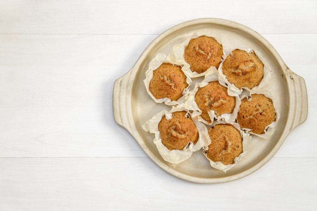 a photo of a plate of cornbread muffins