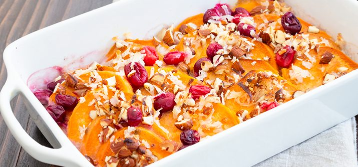 a photo of paleo sweet potato casserole