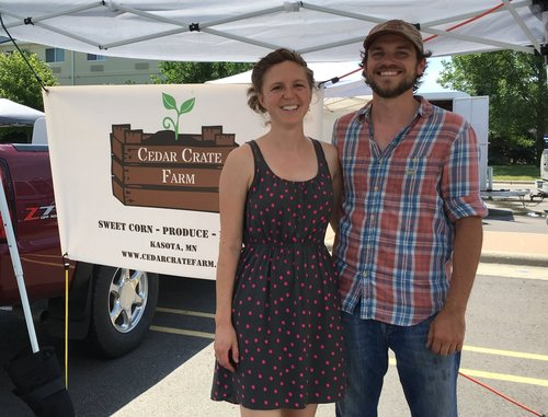 A photo of Dan and Lara of Cedar Crate Farm