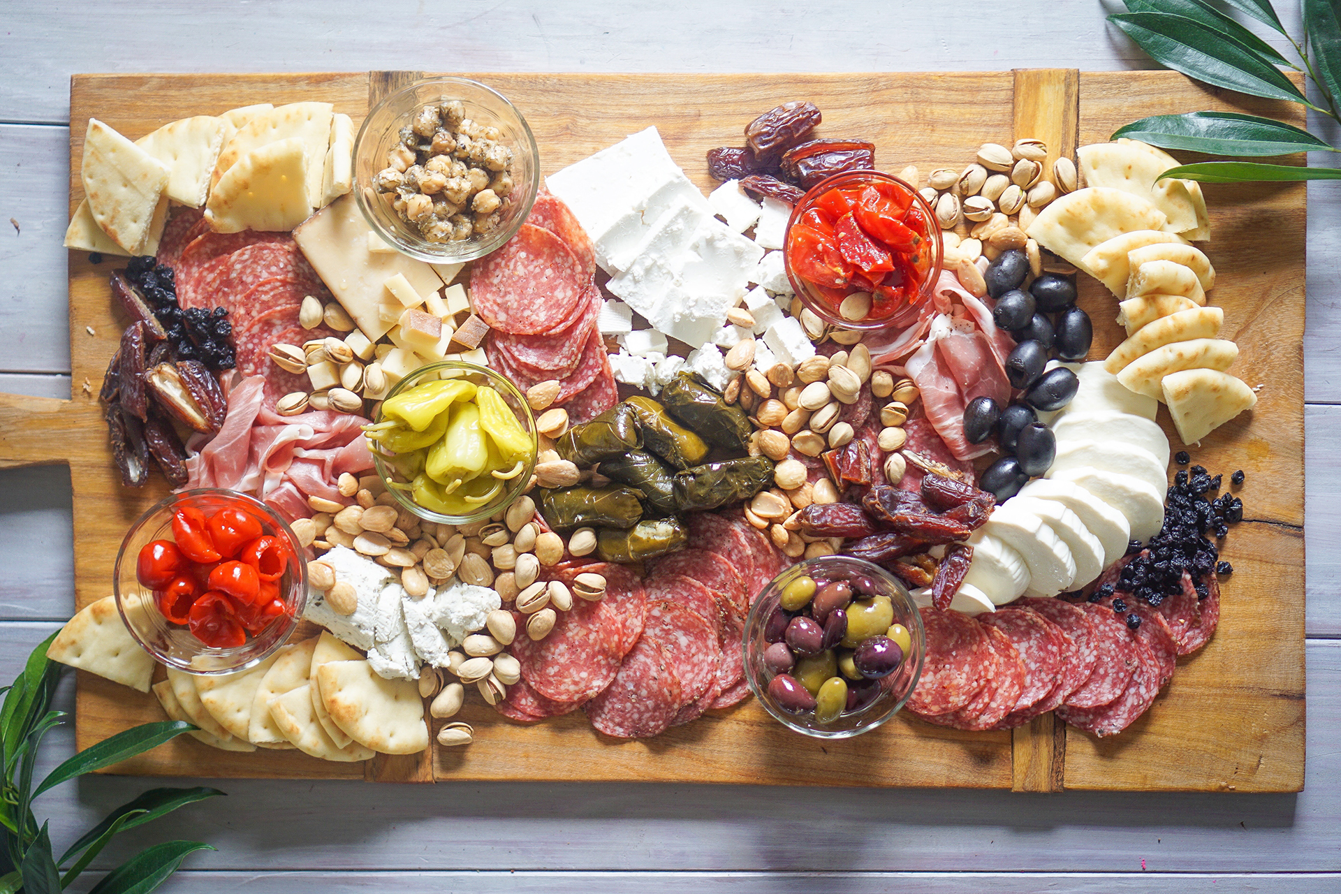 a photo of a Charcuterie plate
