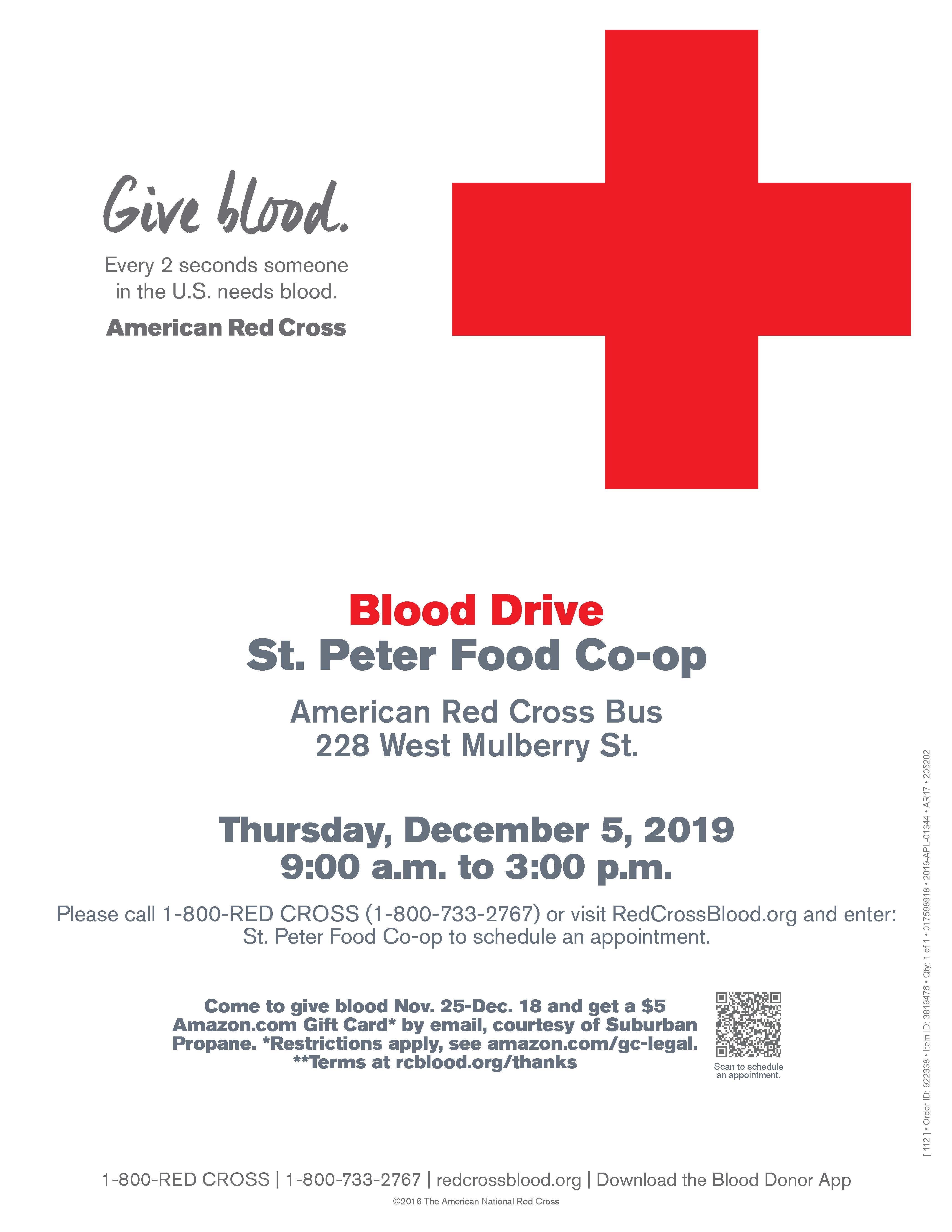 Blood drive flyer